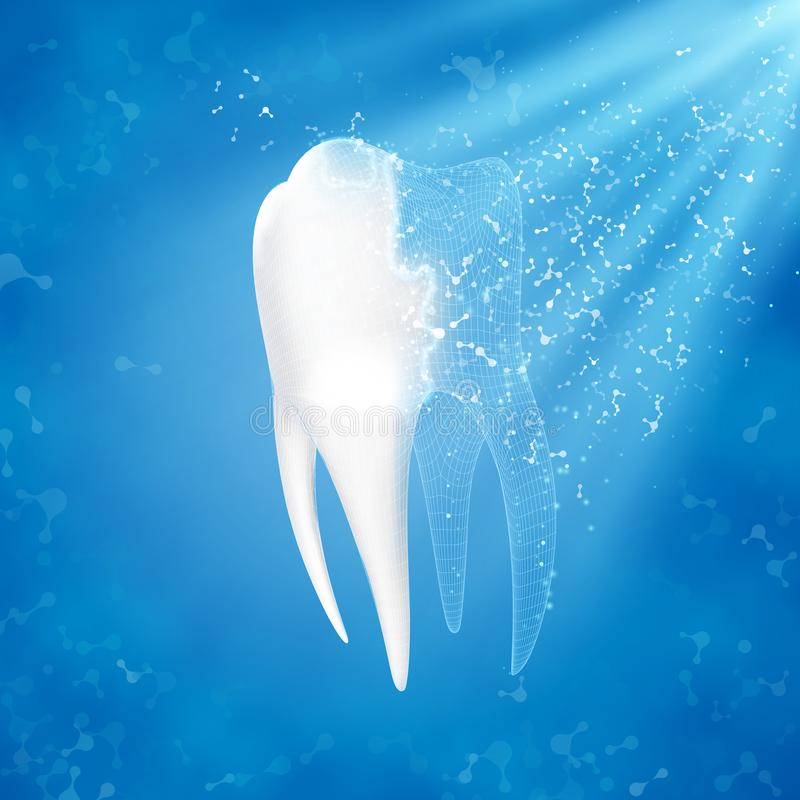 abstract tło medycznego Ząb odbudowa royalty ilustracja