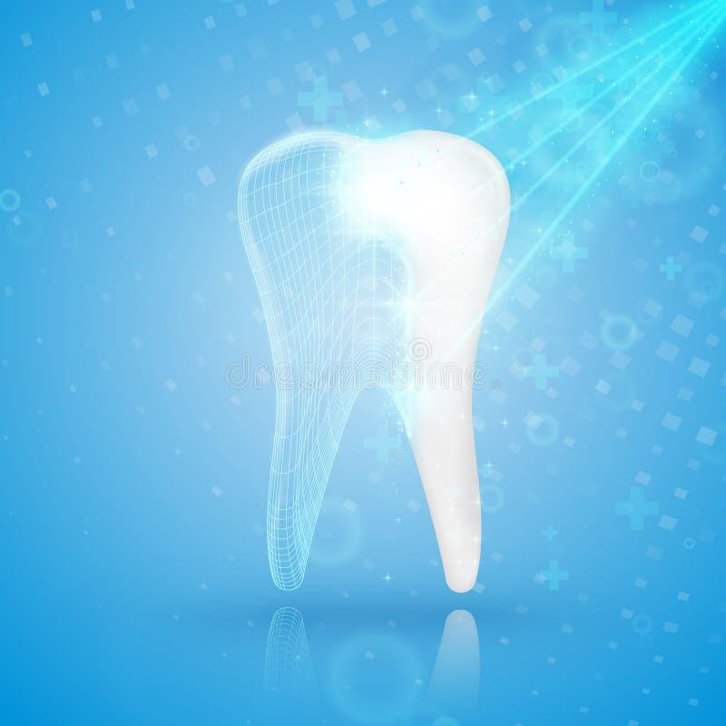 abstract tło medycznego Ząb odbudowa ilustracja wektor