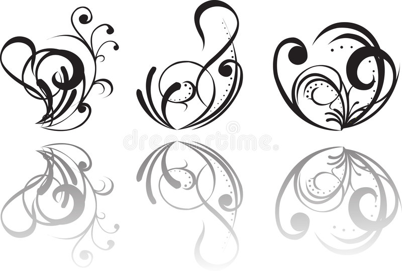 Abstract tattoo royalty free illustration