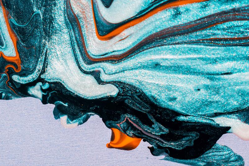 Abstract of teal coloured painting royalty free stock photo