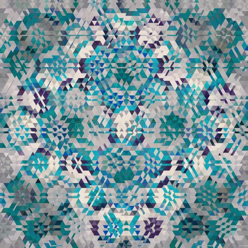 Abstract kaleidoscopic triangle background in turquoise, teal, white. Abstract teal kaleidoscopic triangle background stock photo