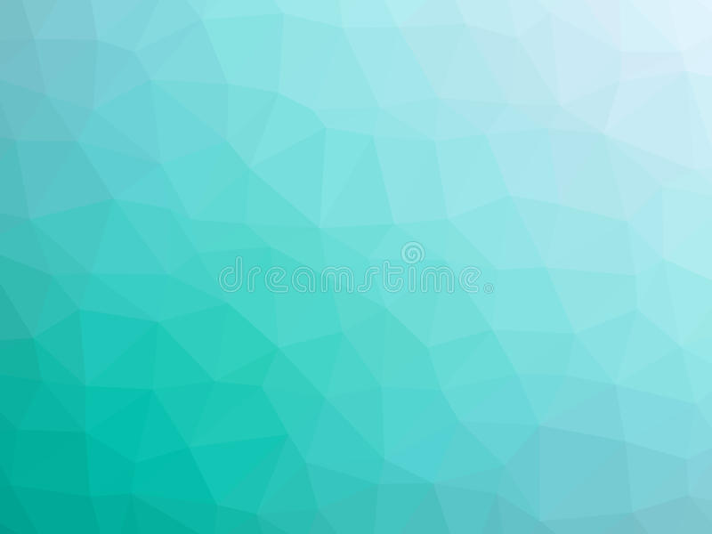 Abstract teal white gradient polygon shaped background vector illustration