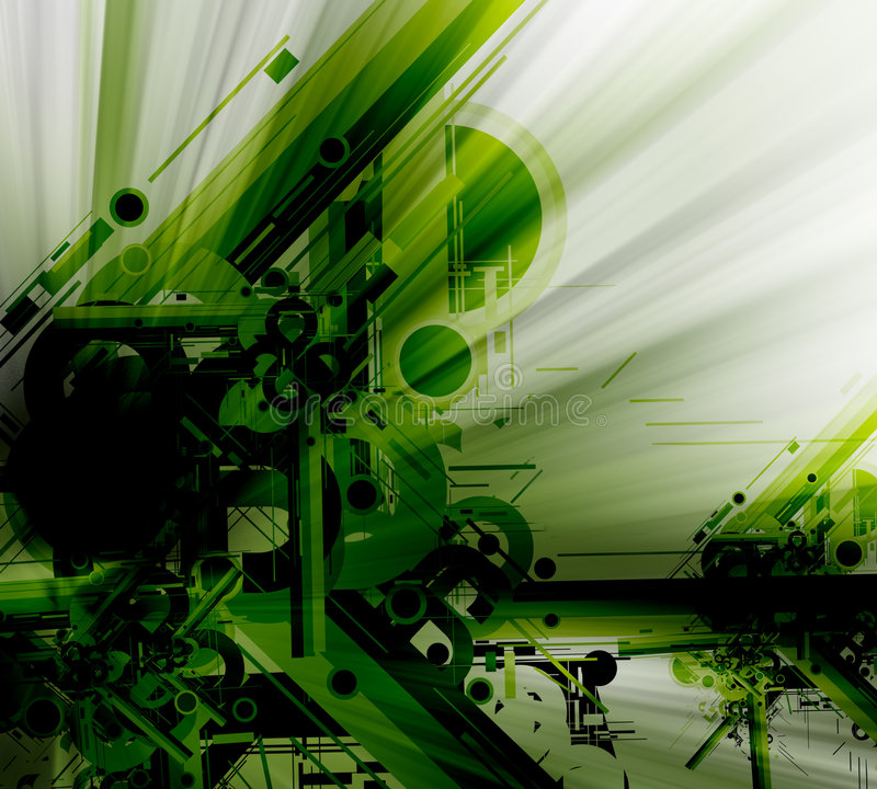 Abstract tech background stock illustration