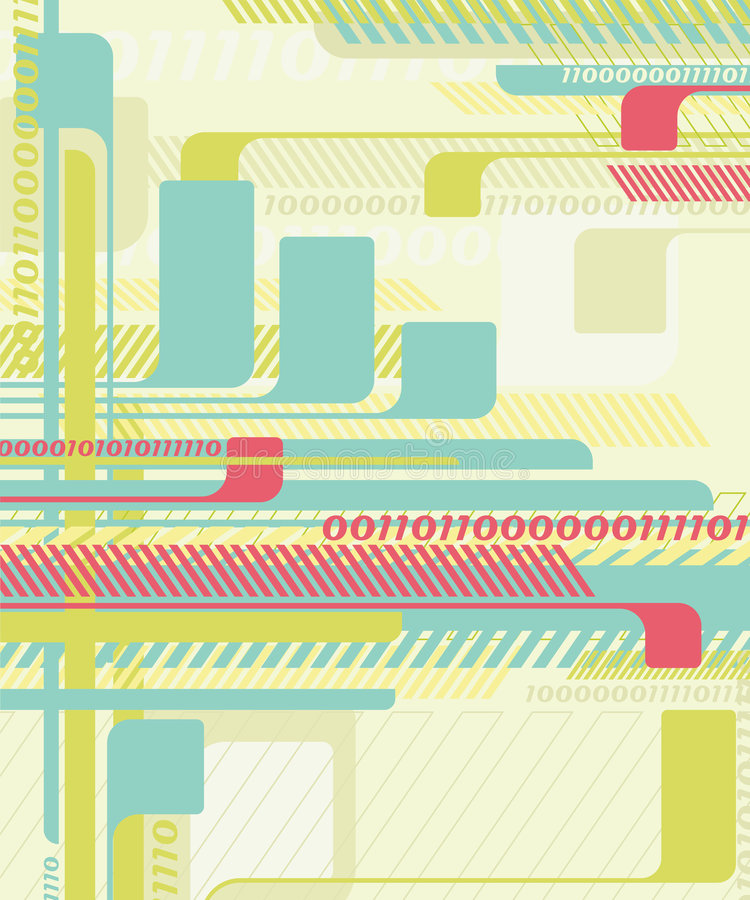 Abstract tech background. stock illustration