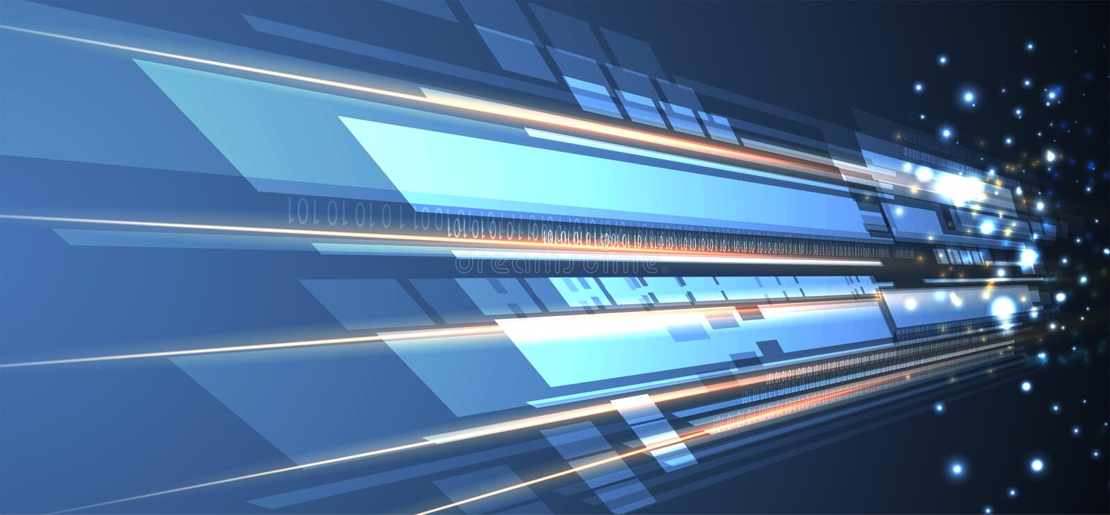 Abstract tech background. Futuristic technology interface. With geometric shapes royalty free illustration