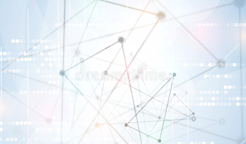 Abstract tech background. Futuristic technology interface. Vector illustration with many geometric shape. royalty free illustration