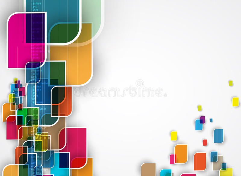 Abstract tech background. Futuristic technology interface. Abstract tech background. Futuristic interface. Vector illustration with many geometric shape stock illustration