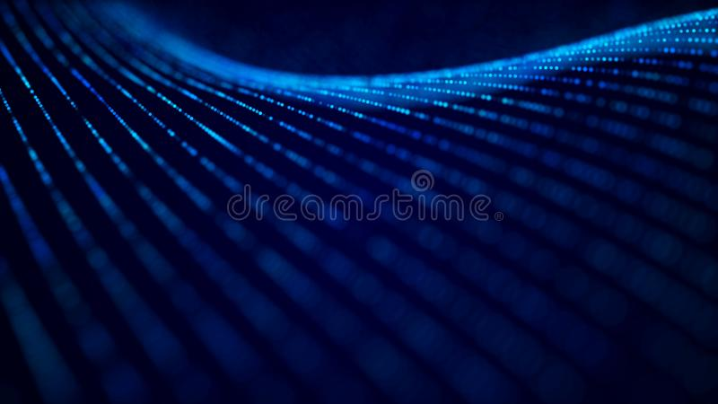 Abstract tech background. Abstract space background. Digital technology background. Computer code. 3d rendering vector illustration