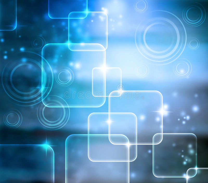 Download Abstract Tech Blue Background Stock Illustration - Image: 26651095