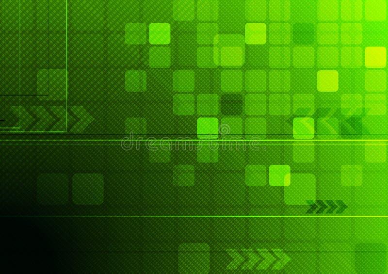 Abstract technical design. Green hi-tech background. Vector eps 10 stock illustration