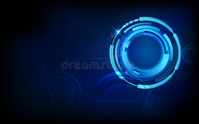 Abstract Techno Background Stock Image