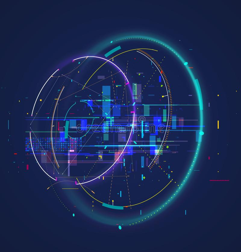 Abstract techno background. Futuristic abstract high-tech design. royalty free stock photo
