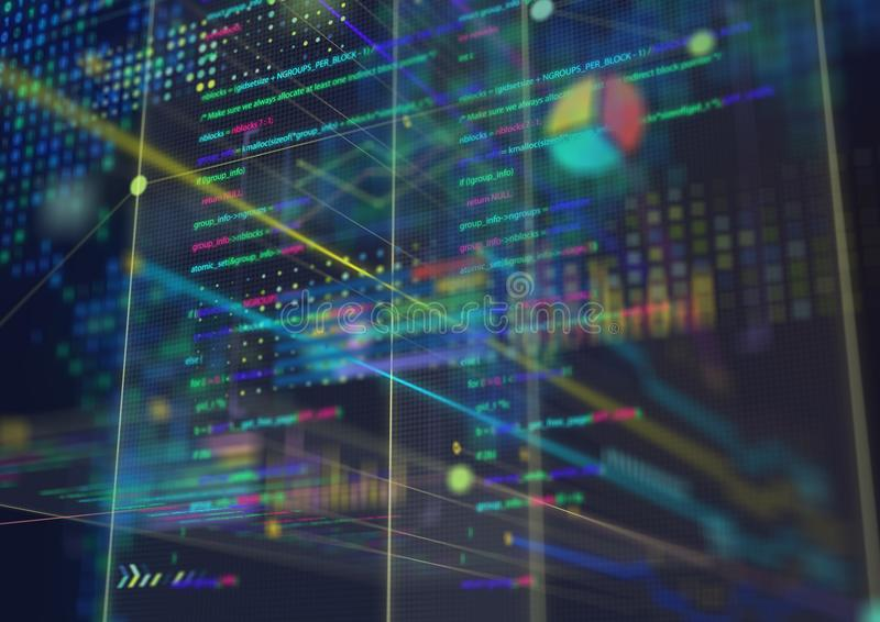 Abstract techno background. Futuristic abstract high-tech design. royalty free stock photos