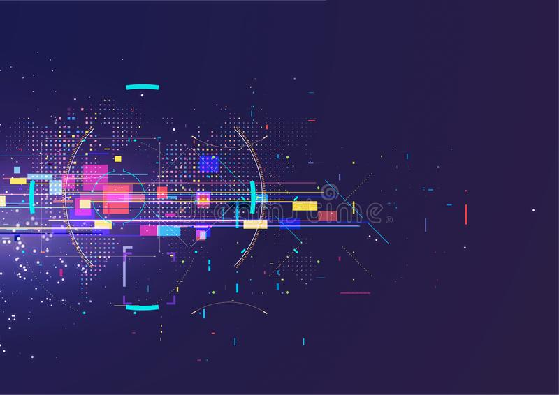 Abstract techno background. Futuristic abstract high-tech design. royalty free stock image