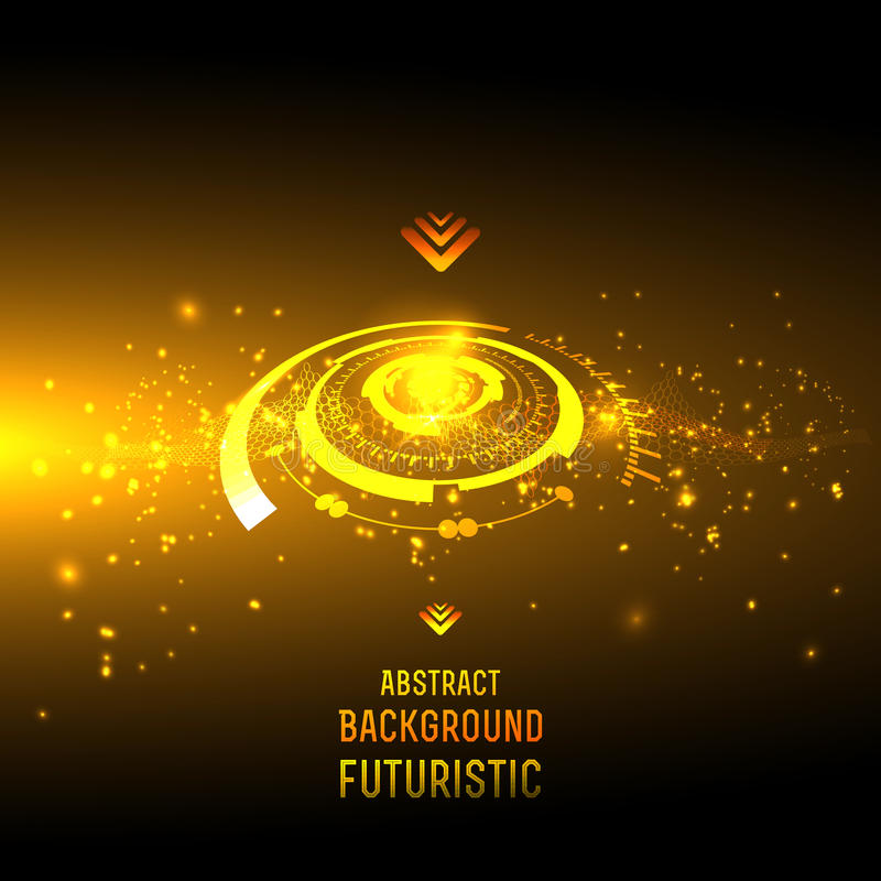Abstract techno background for futuristic high tech design - vector. Abstract background for futuristic high tech design - vector stock illustration