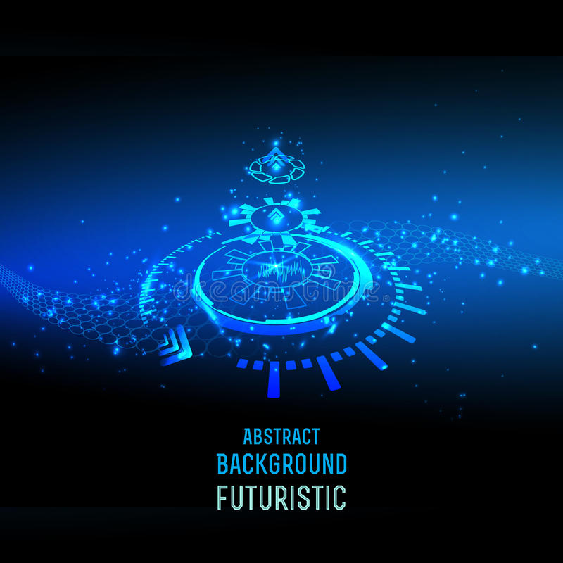 Abstract techno background for futuristic high tech design - vector. Abstract background for futuristic high tech design - vector vector illustration