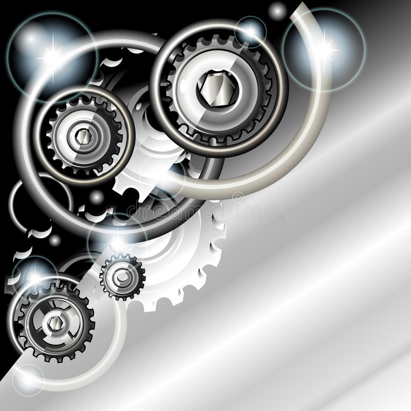 Abstract Techno Background With Gears Royalty Free Stock Photography