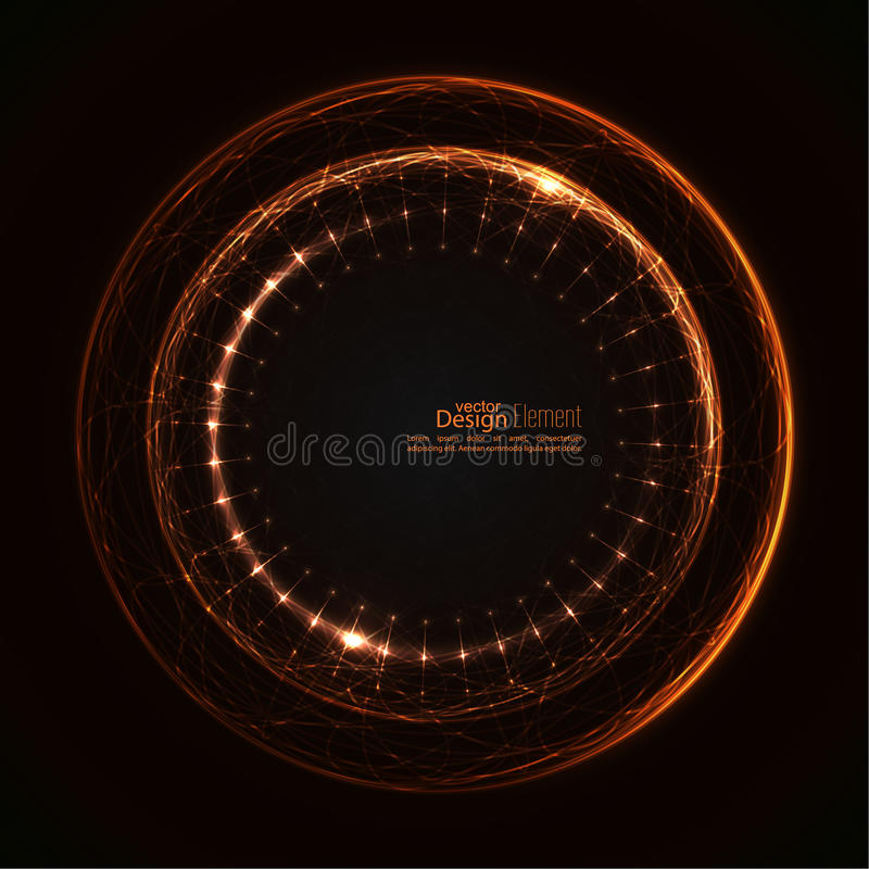 Abstract techno background. stock illustration