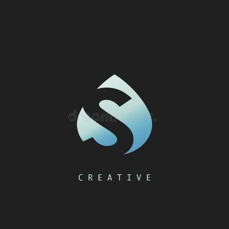 Free Abstract Techno Letter S Logo Icon, Vector Design Concept Water Drop Shape Letter Logo Icon Royalty Free Stock Images - 188430329