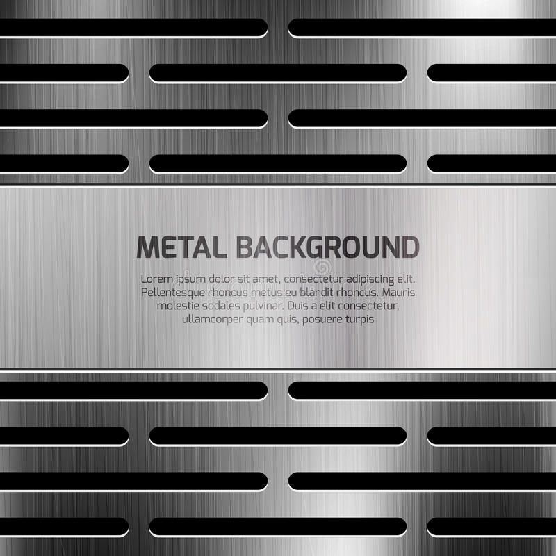Abstract techno metal vector background royalty free illustration