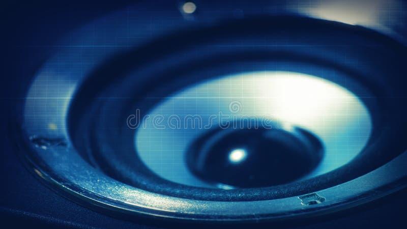 Dark Blue Music Speaker Abstract Wallpaper Stock Photos