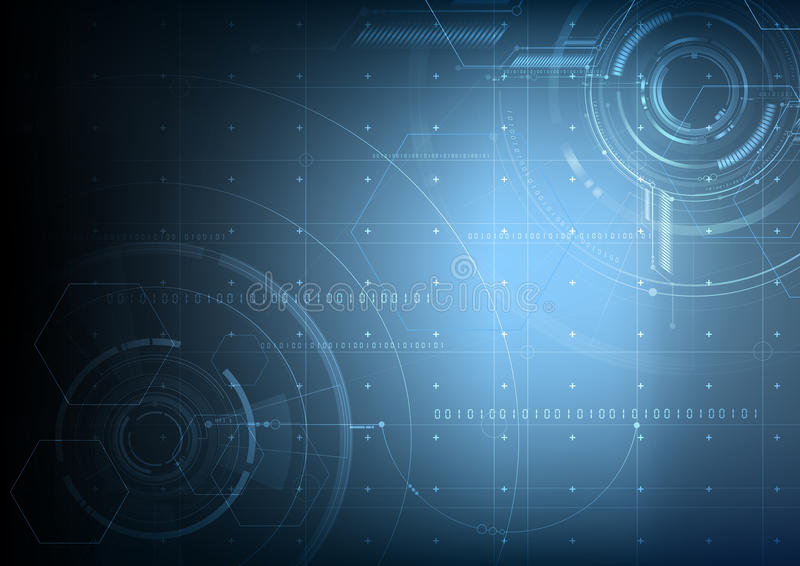 Abstract technological future interface blueprint vector background. Design stock illustration