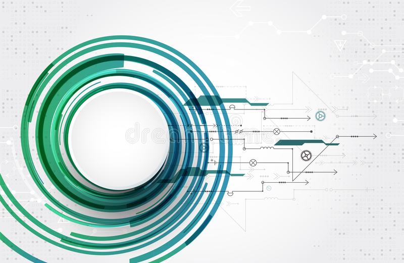 Abstract technological theme circle background. Vector. Abstract technological theme circle background. Creative colored vector illustration. Simple design vector illustration