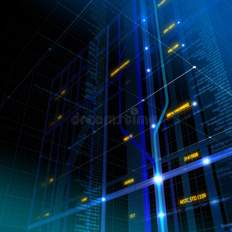 Abstract technology background royalty free illustration