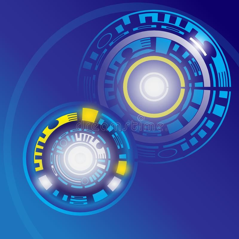 Abstract technology background. Is a general illustration stock illustration