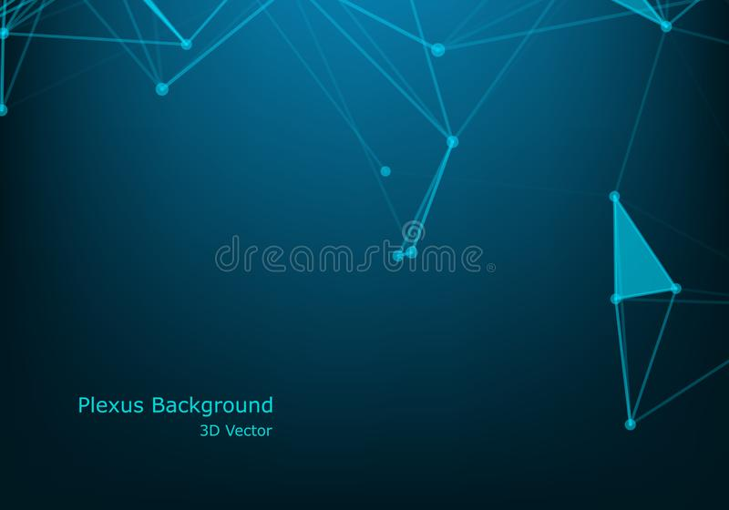 Abstract technology background. Background Polygonal Cyber Structure. Data Connection Concept. Abstract technology background. Background Polygonal Cyber vector illustration