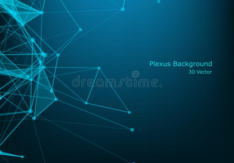 Abstract technology background. Background Polygonal Cyber Structure. Data Connection Concept. Abstract technology background. Background Polygonal Cyber royalty free illustration
