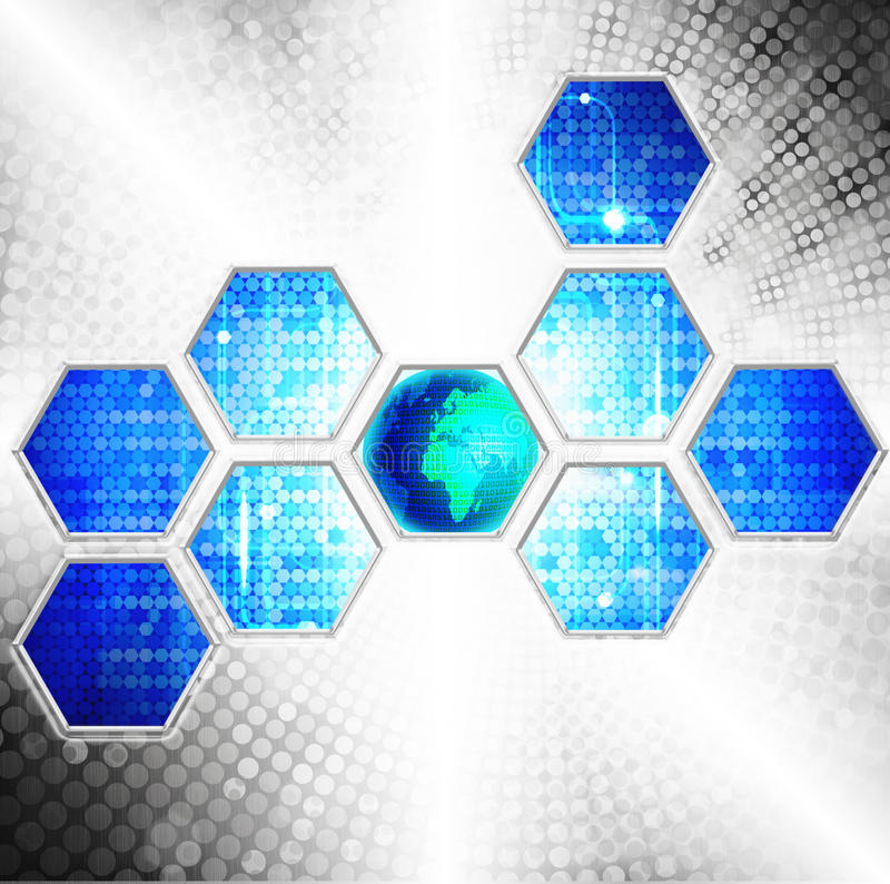 Download Abstract Technology Background Stock Illustration - Illustration: 25115603