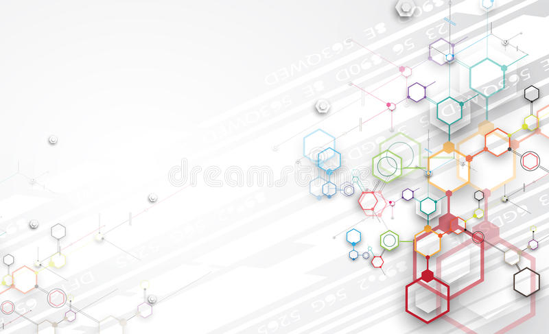 Abstract technology background Business & development direction stock illustration