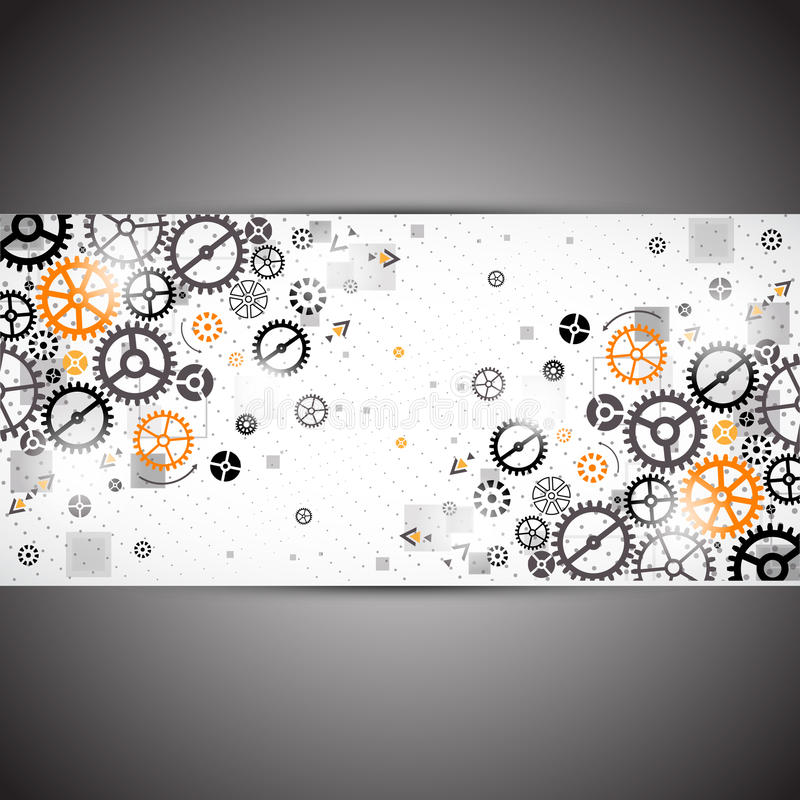 Download Abstract Technology Background. Stock Vector - Illustration of banner, communication: 43483460