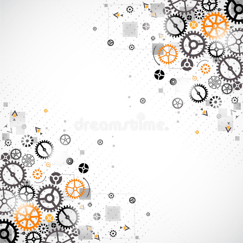 Download Abstract Technology Background. Stock Vector - Illustration of engine, business: 43483490