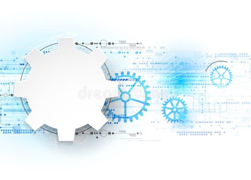 Abstract technology background. Cogwheels theme. Vector illustration stock illustration