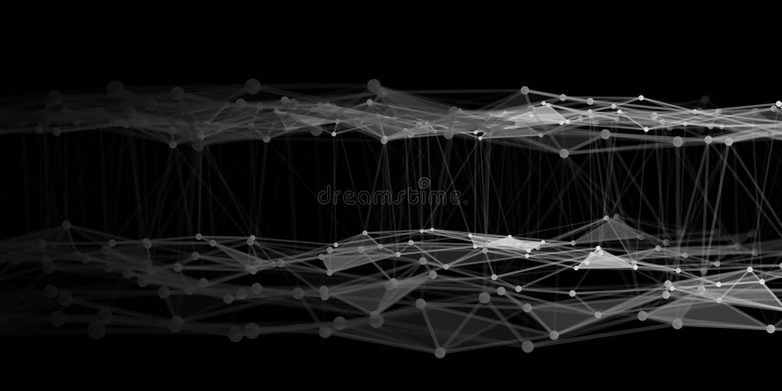 Abstract technology background with connecting dots and lines. Network concept. Data technology. Abstract technology background with connecting dots and lines royalty free illustration