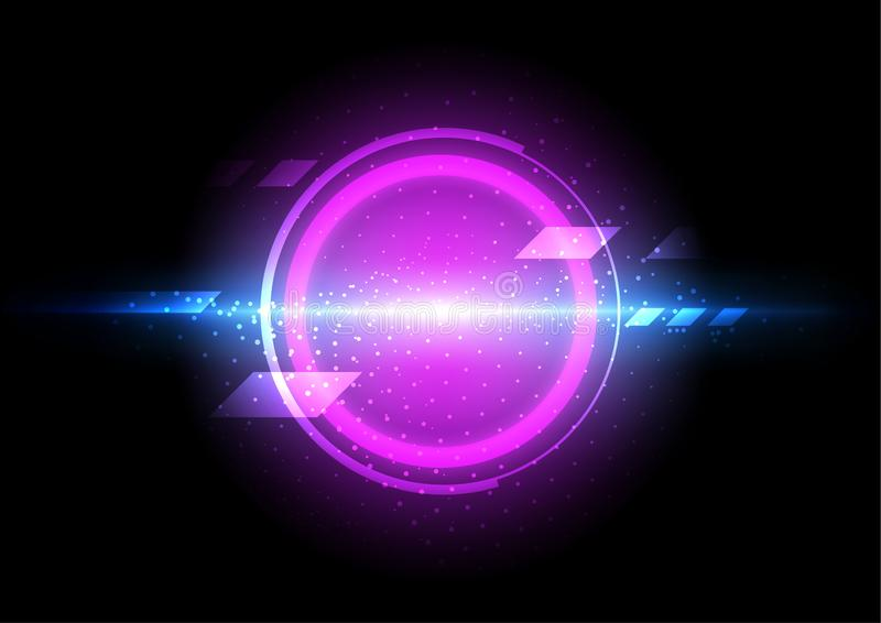 Abstract technology background, digital communication network, futuristic circle energy royalty free stock photo