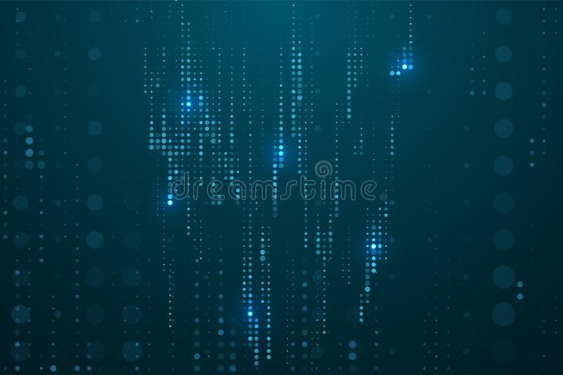 Abstract technology background. Digital computer code. Data transfer concepts in internet. Graphic concept for your design stock illustration