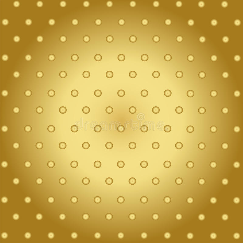 Abstract Technology Background With Gold Metal vector illustration