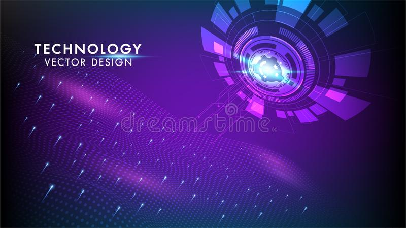 Abstract technology background Hi-tech communication concept, technology, digital business, innovation, science fiction scene royalty free stock photos