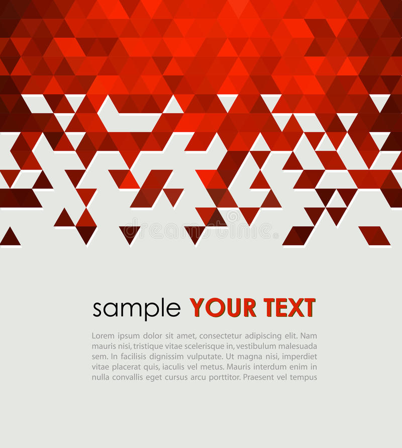 Abstract technology background with triangle vector illustration