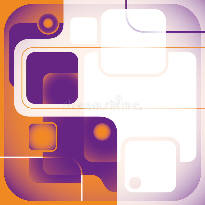 Abstract technology banner. stock illustration