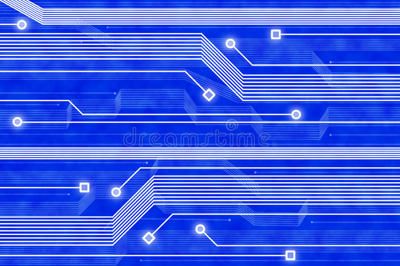 Abstract Technology Blue Background Stock Photography