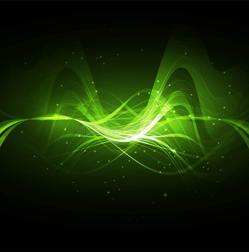 Abstract technology bright green wave. Abstract technology bright green colorful wave illustration royalty free illustration
