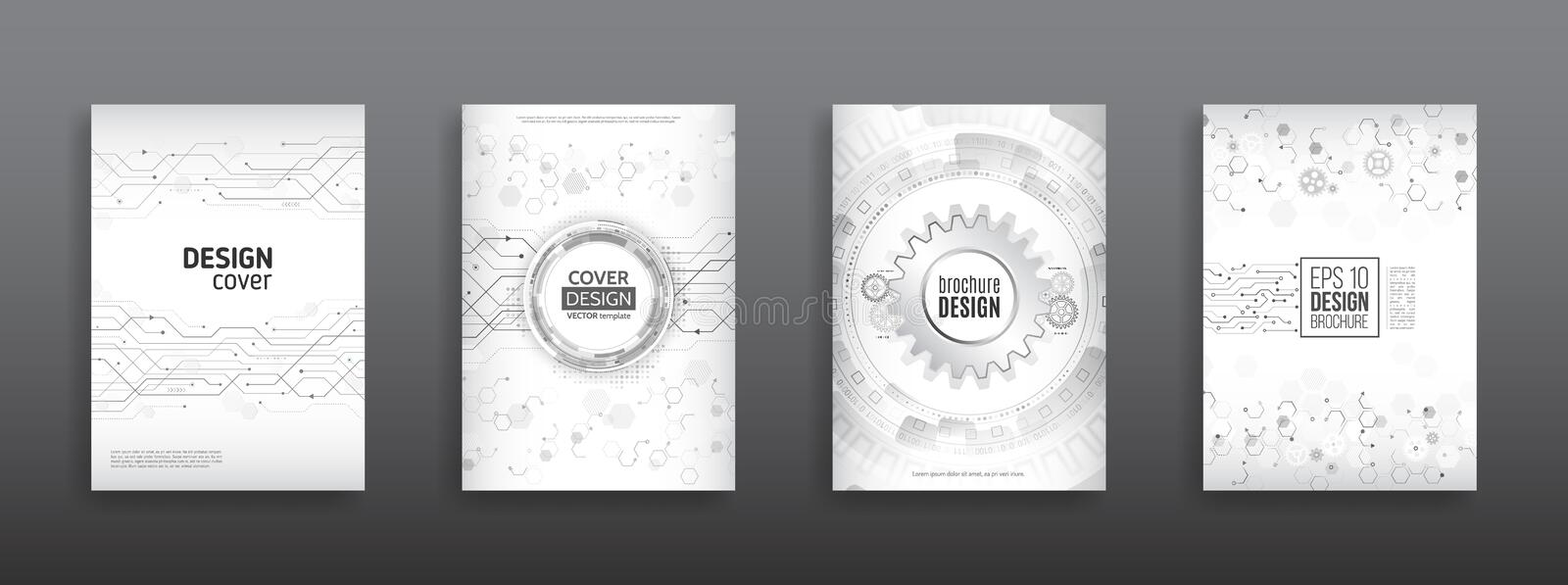 High Tech Cover Design Concept Stock Vector Illustration Of