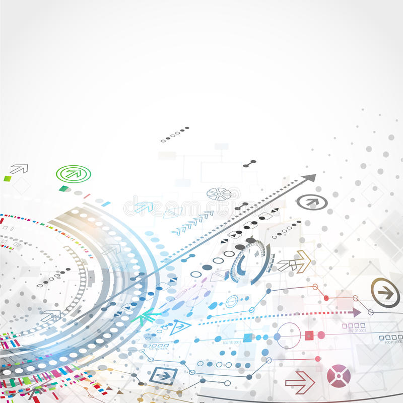 Abstract technology business background. royalty free illustration