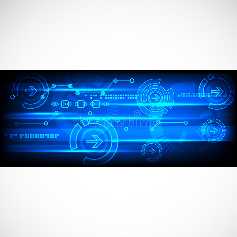 Abstract technology business template background. stock illustration