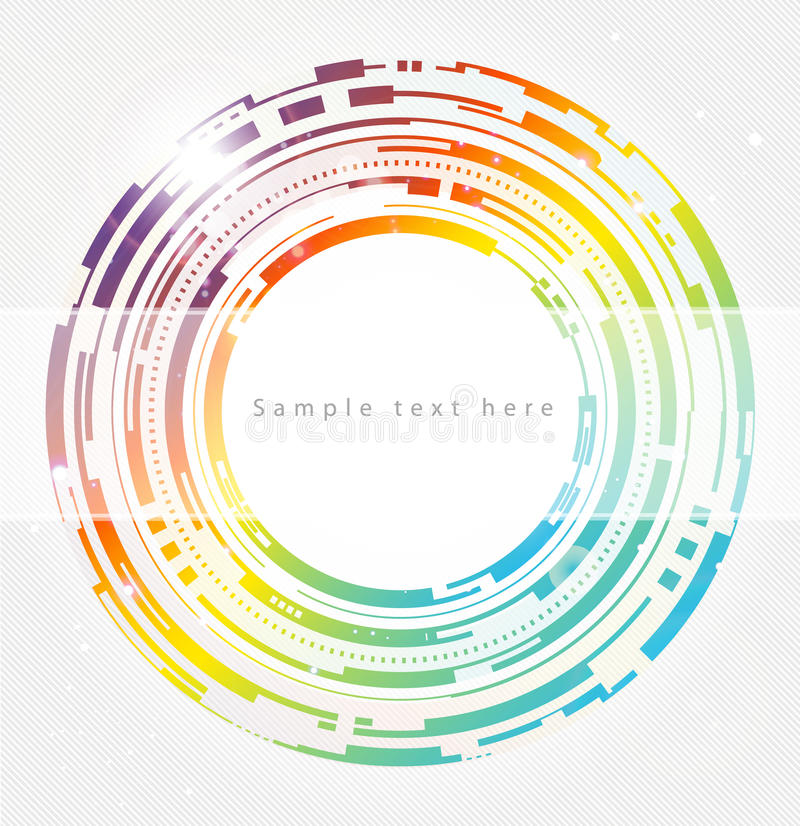 Abstract technology circles background royalty free illustration