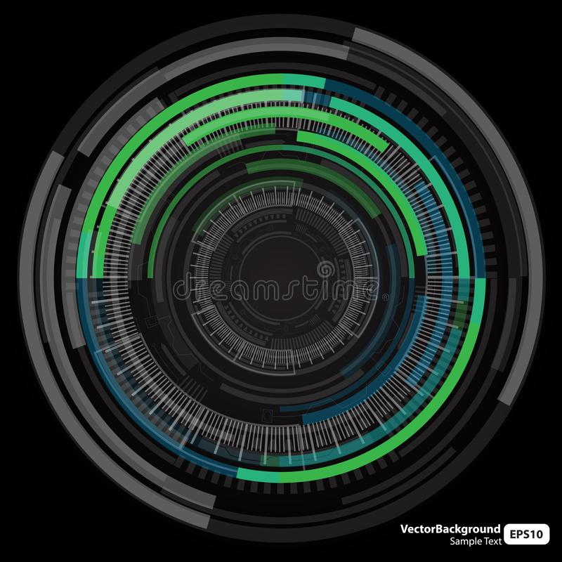 Abstract technology circles background. Is a general illustration vector illustration